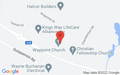 Map to Kings Way Assembly in Quispamsis, NB