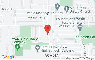 Map to Lutheran Church of our Saviour in Calgary, AB