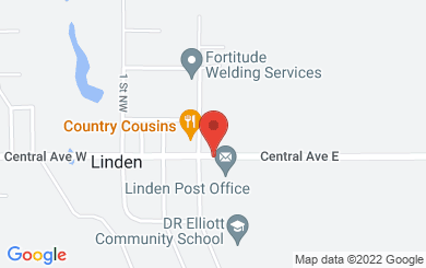 Map to Linden Mennonite Brethren Church in Linden, AB