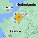 Location of Berulle on map of France