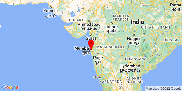 Where is Mumbai located on the map?