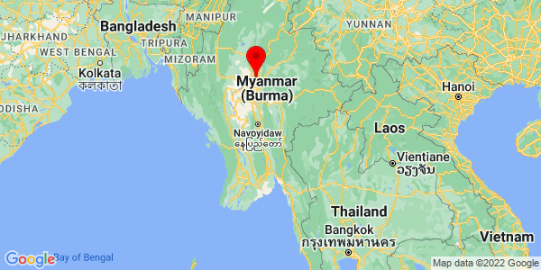 Where is Myanmar located on the map?