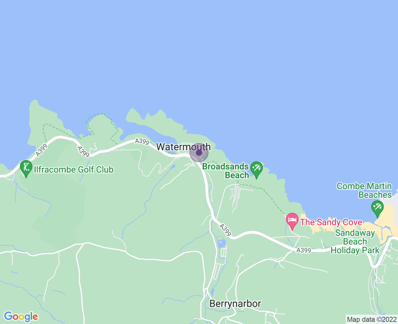 Location of (Watermouth Cove Weddings)