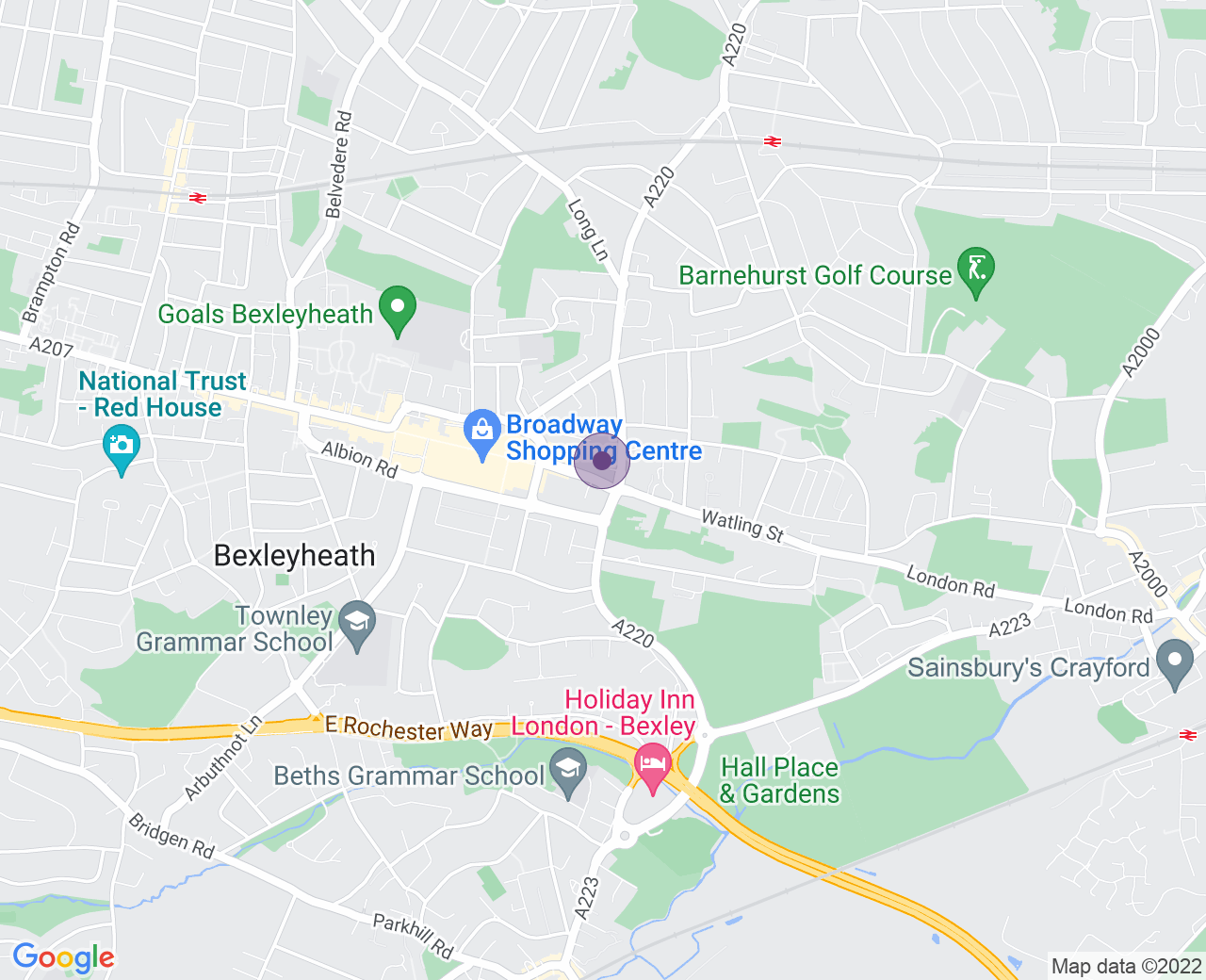 Location of (Bexleyheath Marriott Hotel)