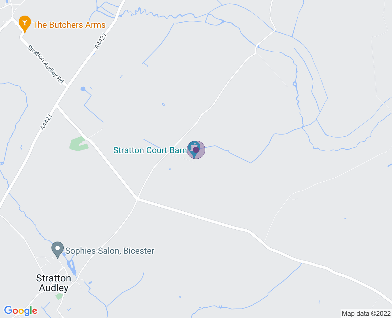 Location of (Stratton Court Barn)