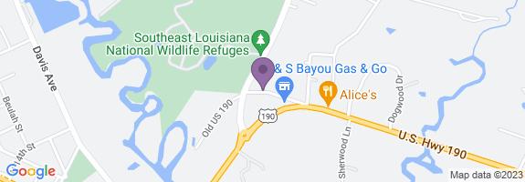 J & S Bayou Gas Map