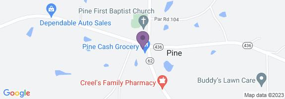 Pine Cash Map