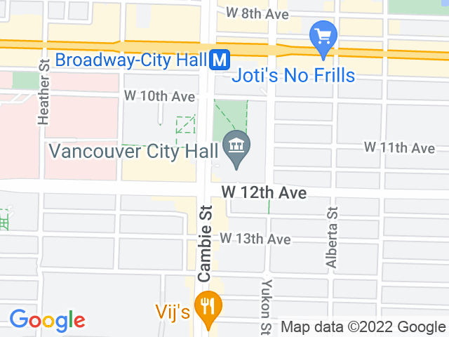 Google Map: Vancouver, BC