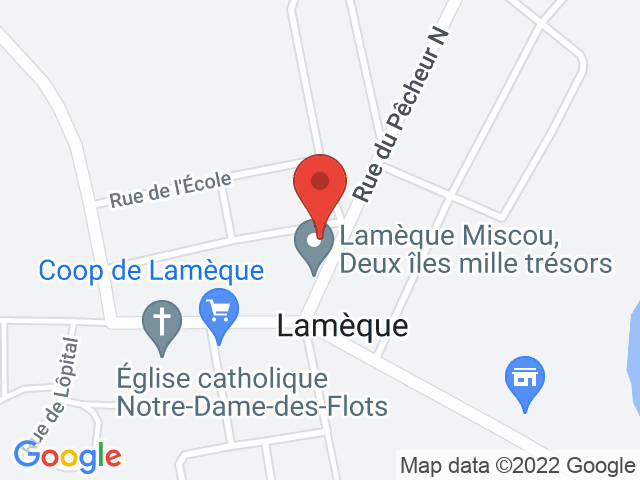 Google Map: Lamèque, NB