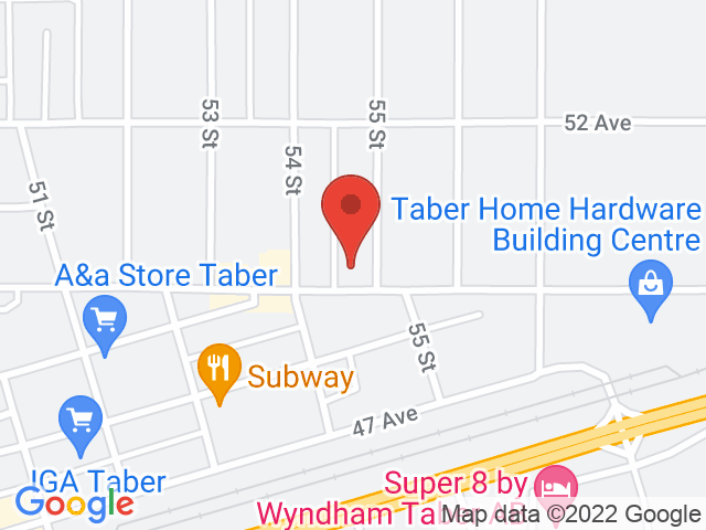 Google Map: Taber, AB