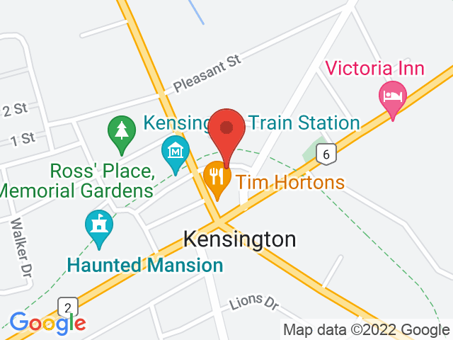 Google Map: Kensington, PE