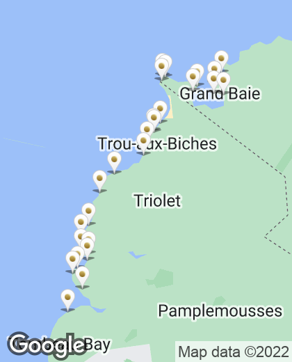 Localisation de tous nos hôtels à l'île Maurice