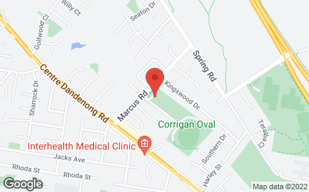 Map with address Harold Box Hall, 31C Marcus Rd , Dingley Village 3172
