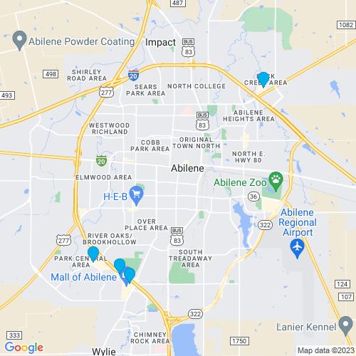 Map of Abilene, TX