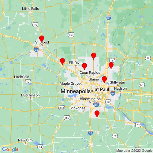 Map of Albertville, MN