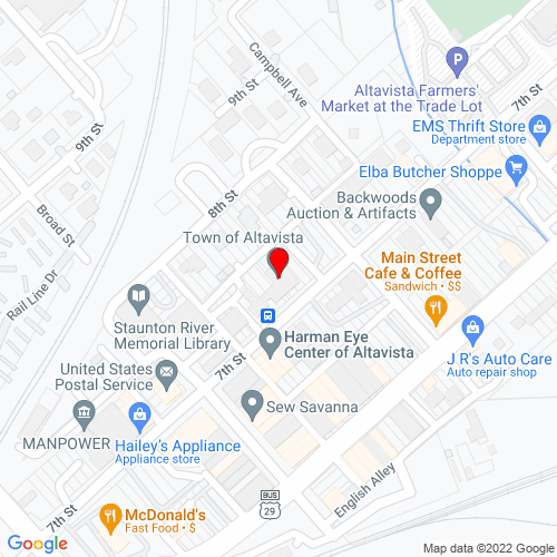 Map of Altavista, VA