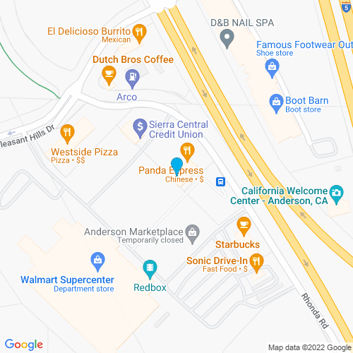 Map of Anderson, CA