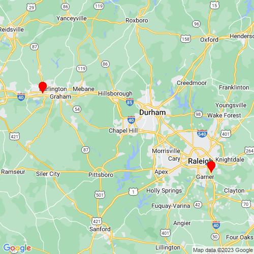 Map of Apex, NC