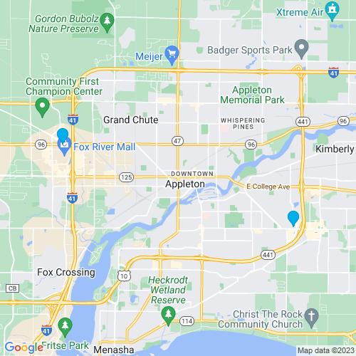 Map of Appleton, WI