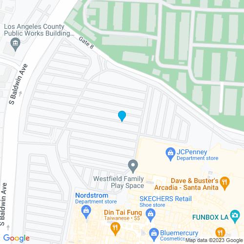 Map of Arcadia, CA