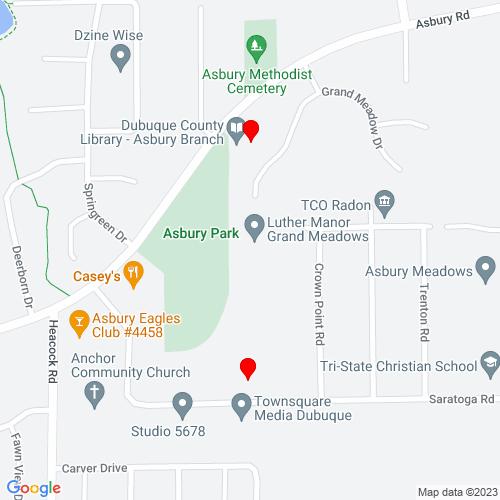 Map of Asbury, IA
