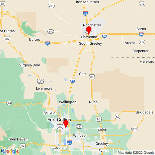 Map of Ault, CO