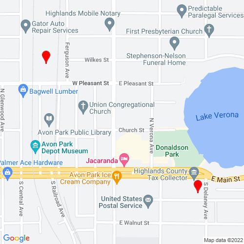Map of Avon Park, FL