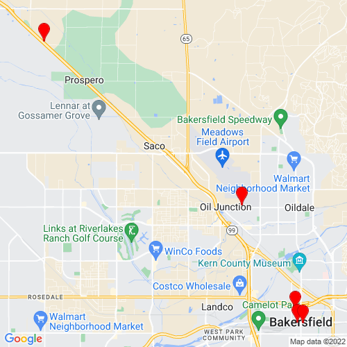 Map of Bakersfield, CA