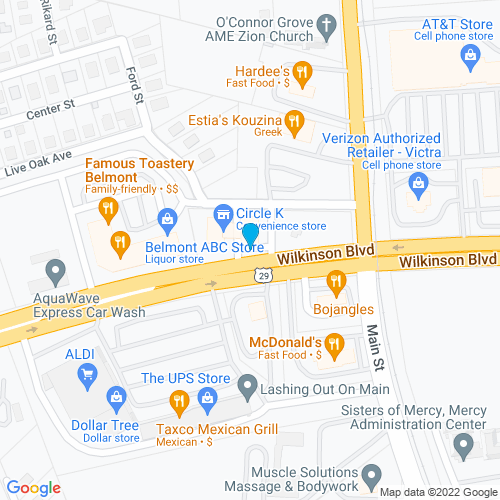 Map of Belmont, NC