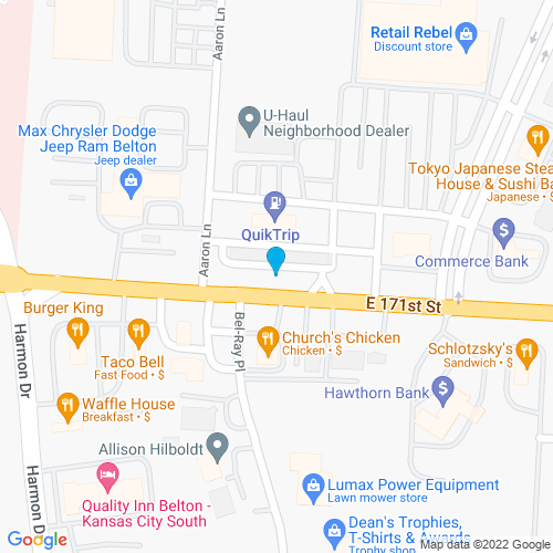 Map of Belton, MO