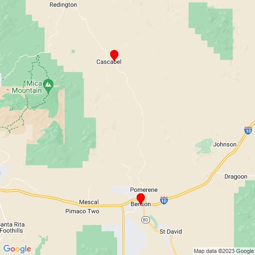 Map of Benson, AZ