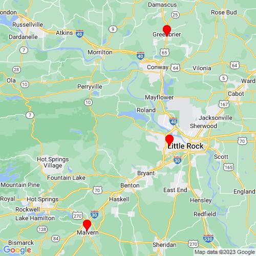 Map of Benton, AR