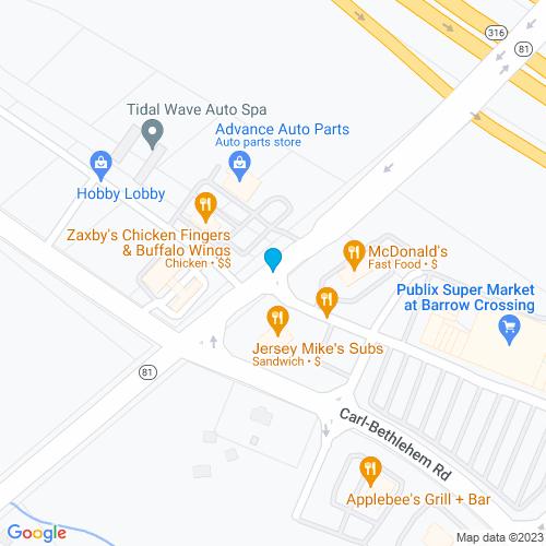 Map of Bethlehem, GA