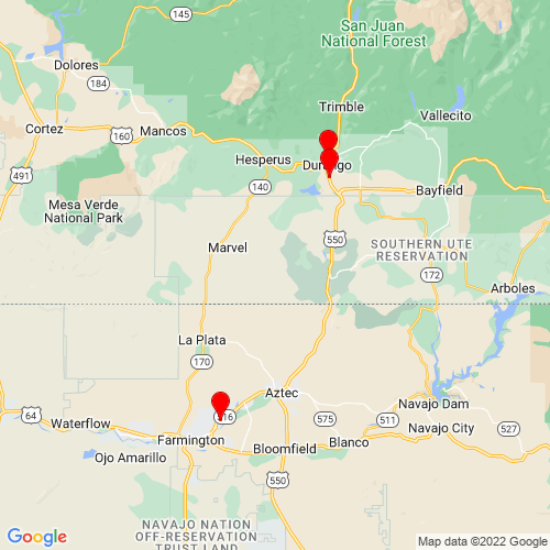 Map of Bloomfield, NM