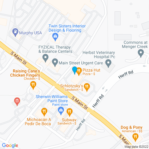 Map of Boerne, TX