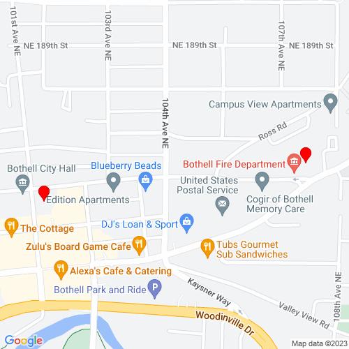 Map of Bothell, WA