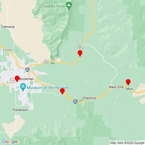 Map of Bozeman, MT