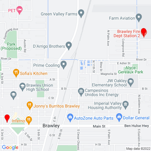 Map of Brawley, CA