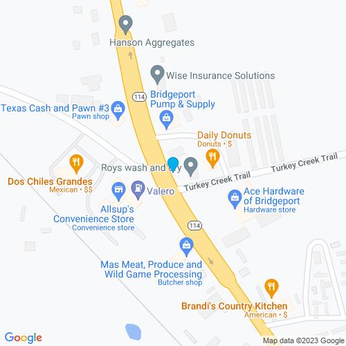 Map of Bridgeport, TX