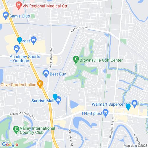 Map of Brownsville, TX