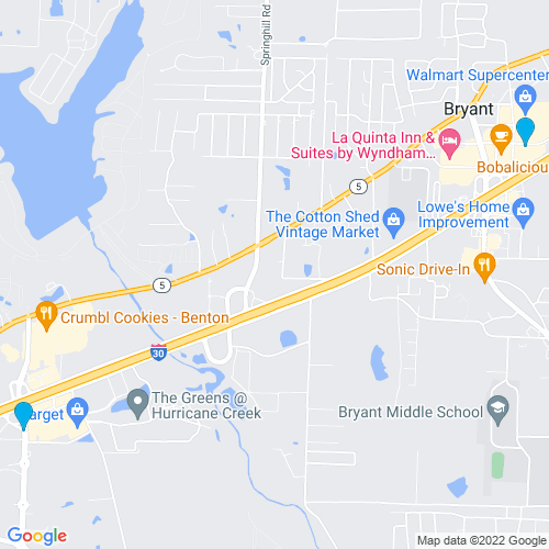 Map of Bryant, AR