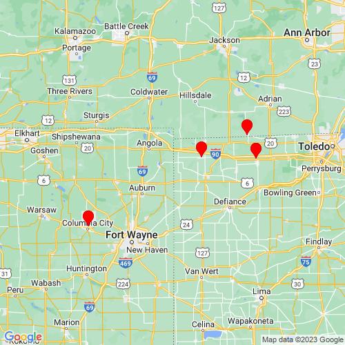 Map of Butler, IN