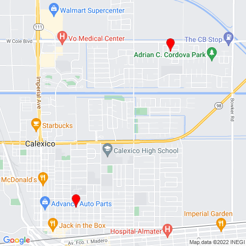 Map of Calexico, CA