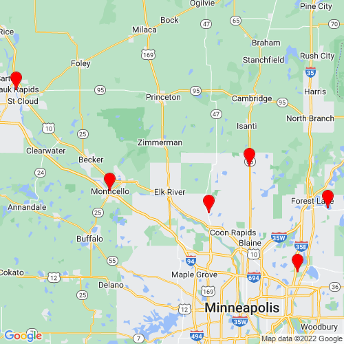 Map of Cambridge, MN