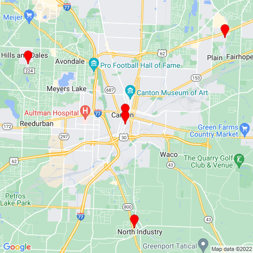 Map of Canton, OH