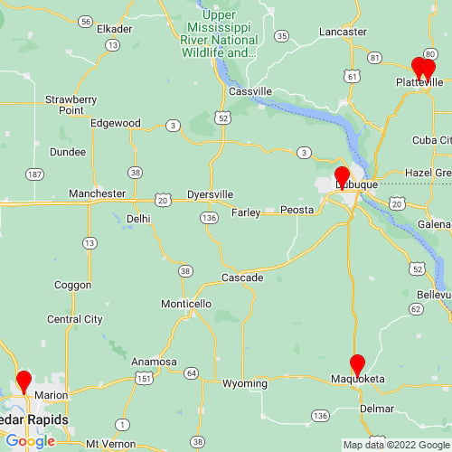 Map of Cascade, IA