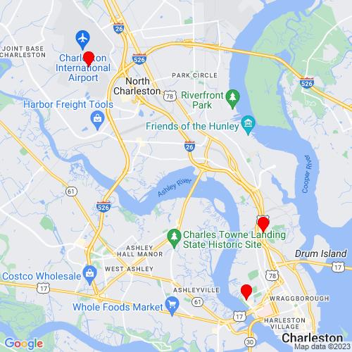 Map of Charleston, SC