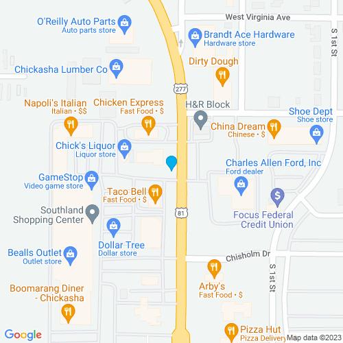 Map of Chickasha, OK