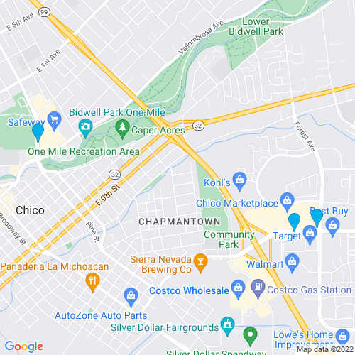 Map of Chico, CA