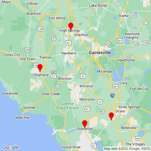 Map of Chiefland, FL